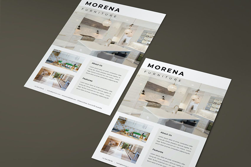 Photoshop Flyer Template for Furniture Business