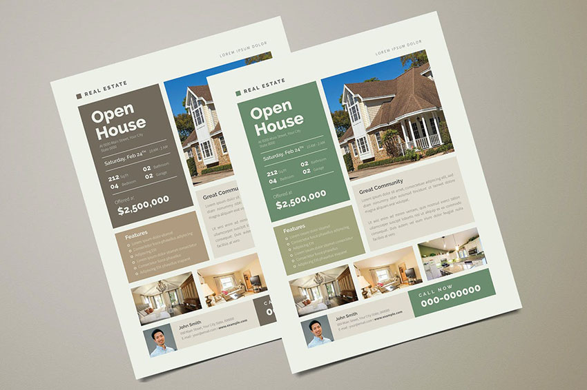 Real Estate Photoshop Flyer Template