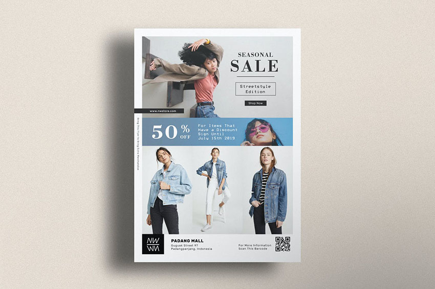 Photoshop Flyer Template for Fashion Businesses