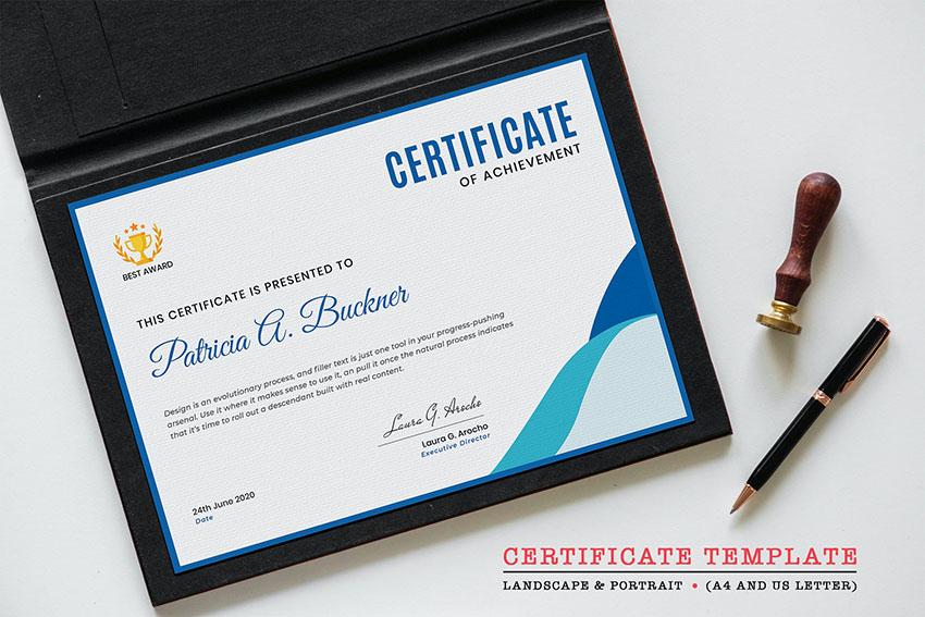 Photoshop Certificate Template