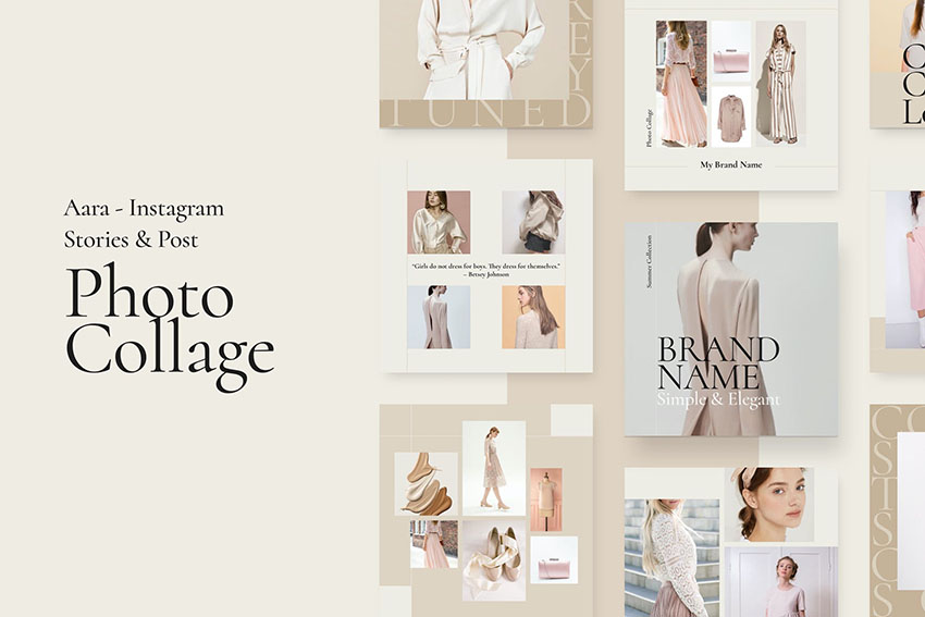 Aara - Photo Collage Instagram Stories  Posts