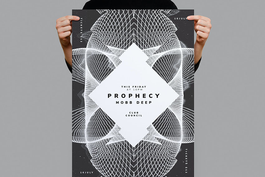 Prophecy Photoshop Movie Poster Template