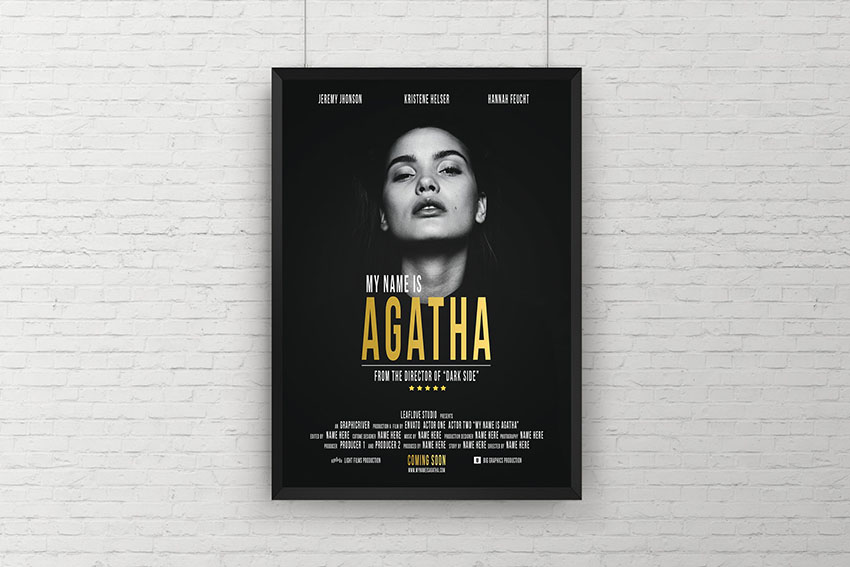 Photoshop Movie Poster Template