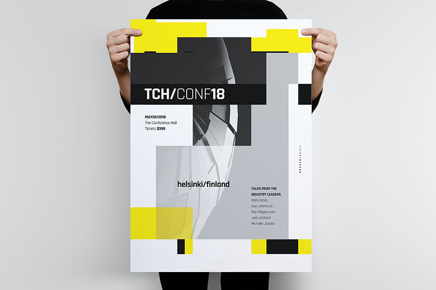 Tech Photoshop Poster Template