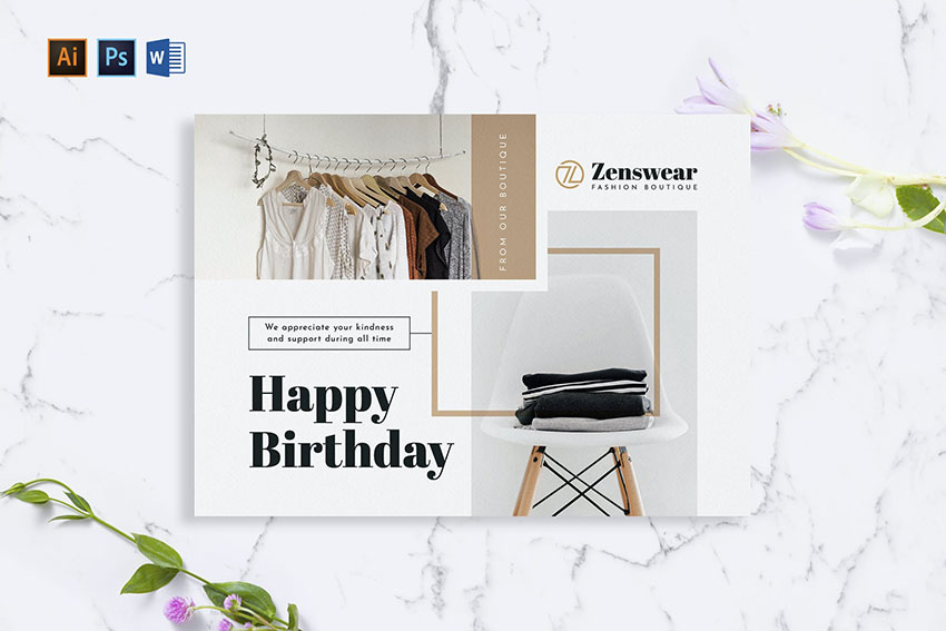 Boutique Greeting Photoshop Card Template