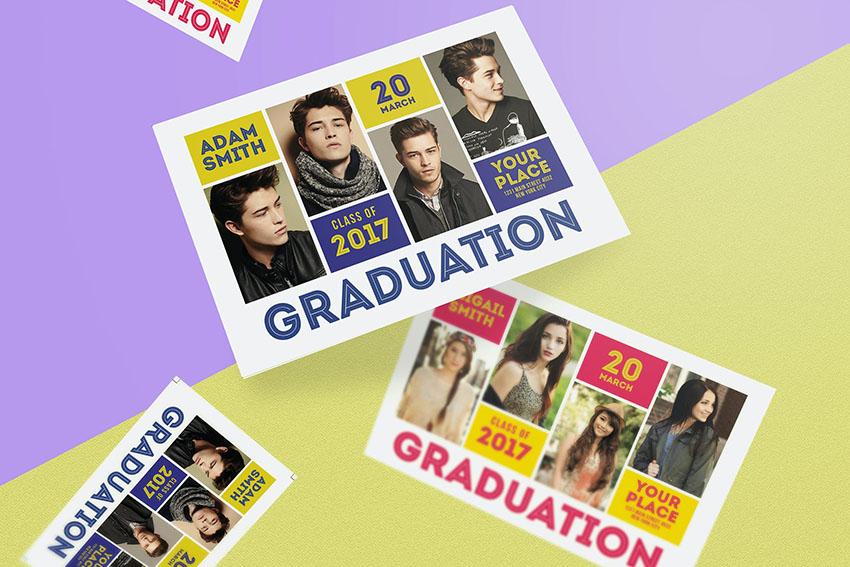 Graduation Photoshop Invitation Template