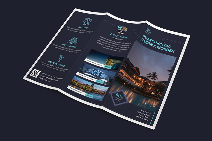 Hotel Photoshop Trifold Template