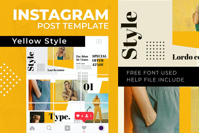 Style Instagram Photoshop Template
