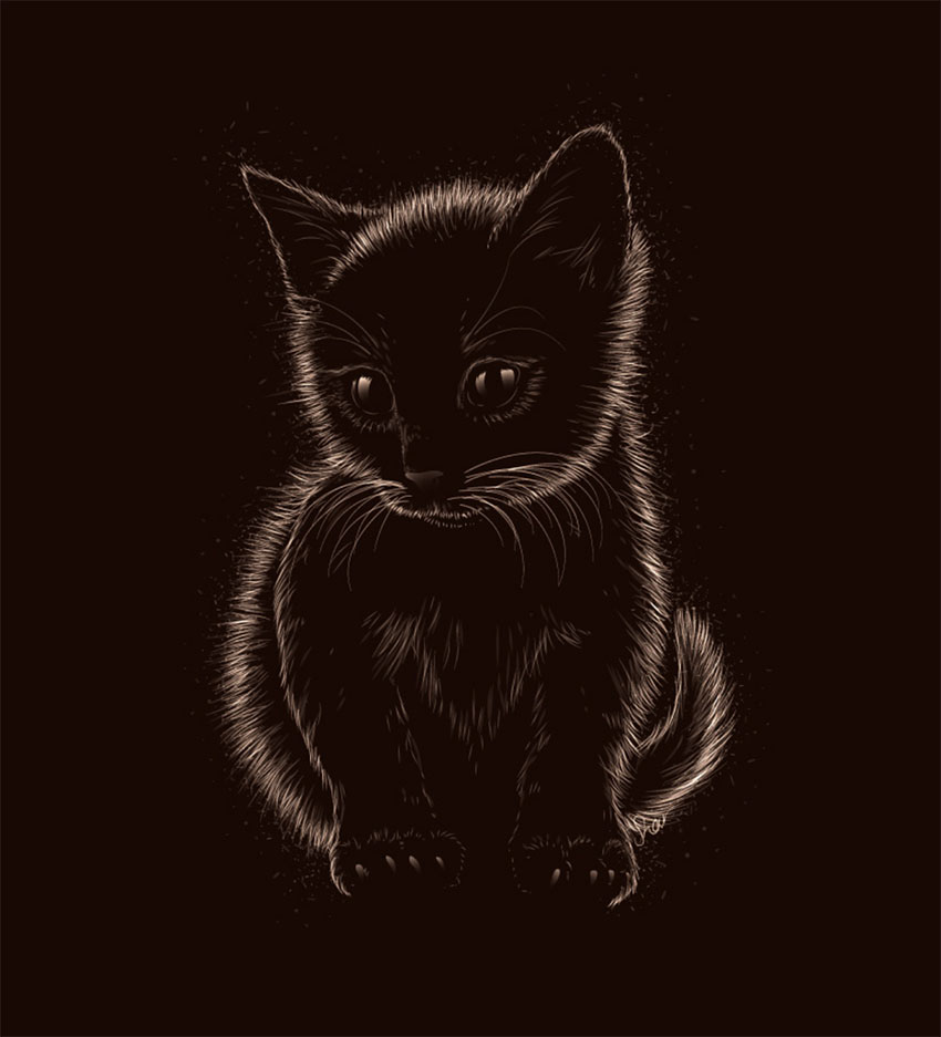 How to Create a Soft Furry Kitten in Adobe Illustrator