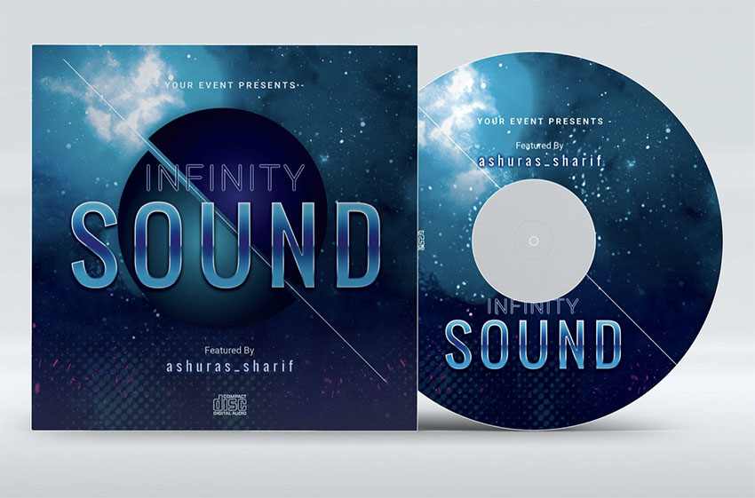 Music Album Cover Template