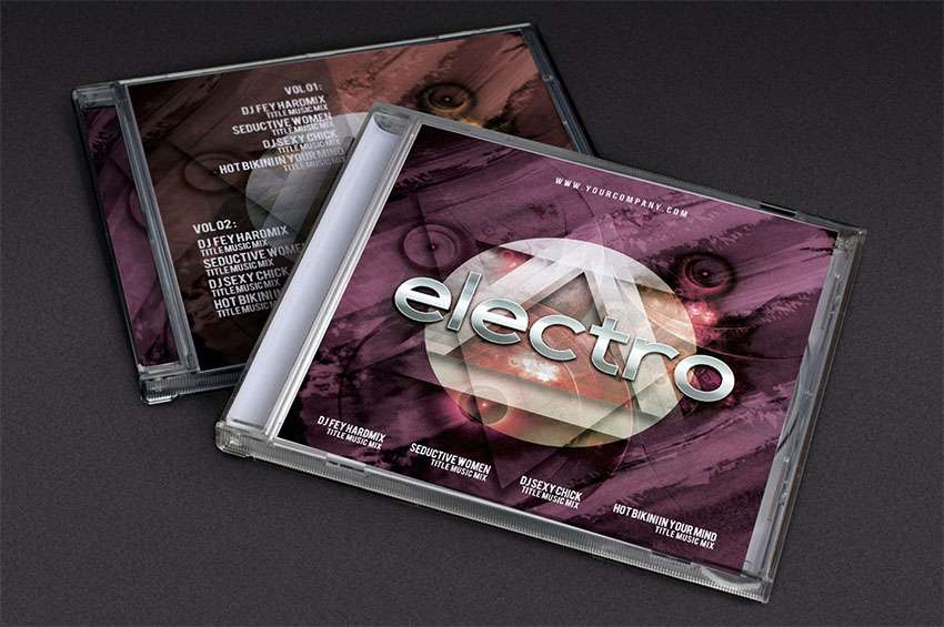 Cover Futuristic Music Template (PSD)