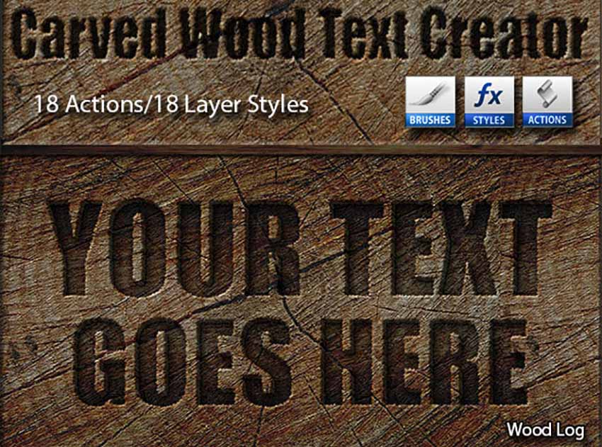 Photoshop Wood Carving Effect