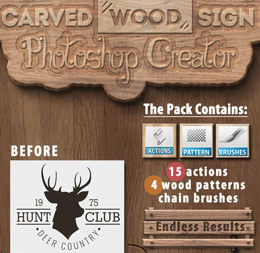 Wood Carving Photoshop