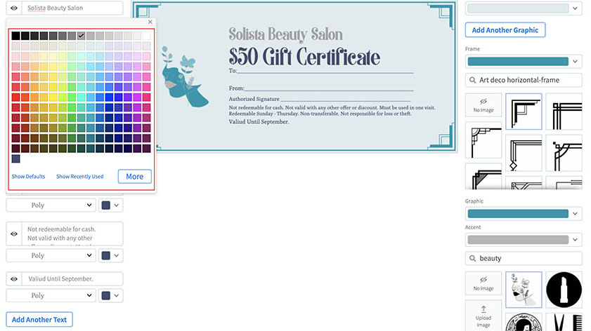 How to Make a Gift Certificate Using an Online Gift Certificate Maker