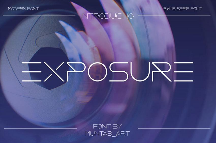 Exposure  Modern Minimalist Font