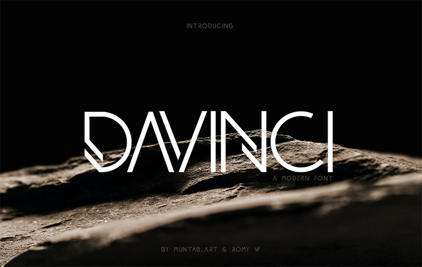 DAVINCI  Modern Minimalist Font