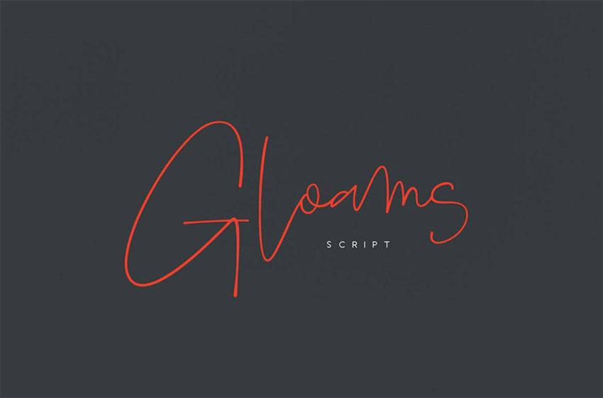 Gloams - Minimalist Cursive Font