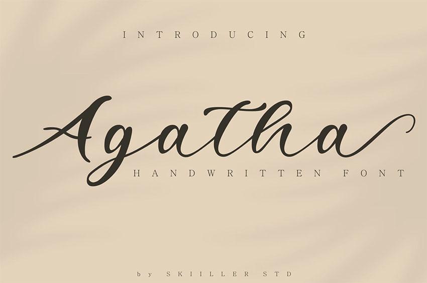 Agatha Minimalist Calligraphy Font