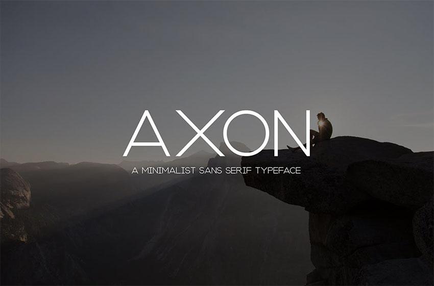Axon  Minimalist Sans Serif Family