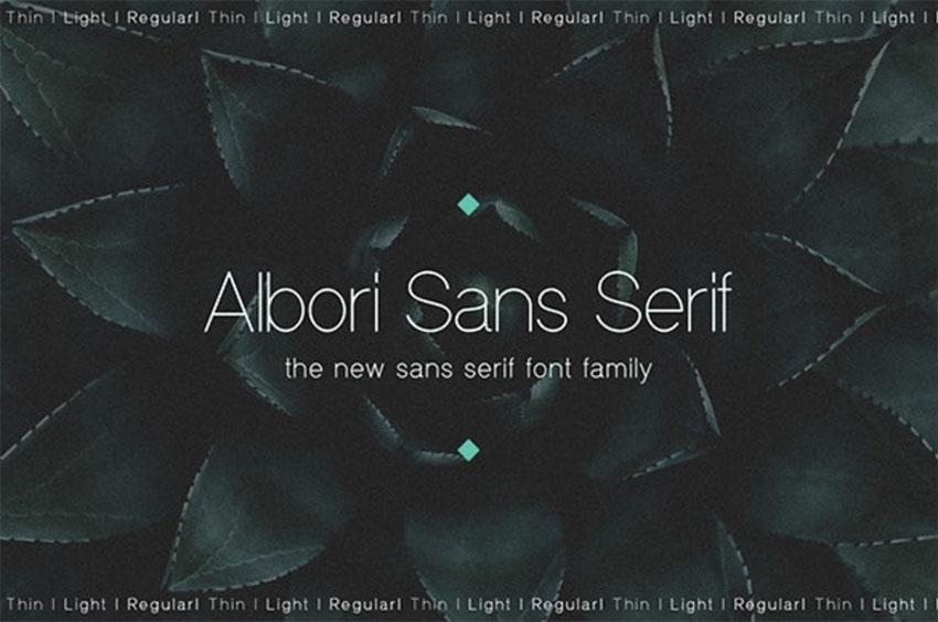 Albori Minimalist Sans-Serif Font
