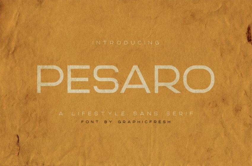 Pesaro  A Lifestyle Sans Serif