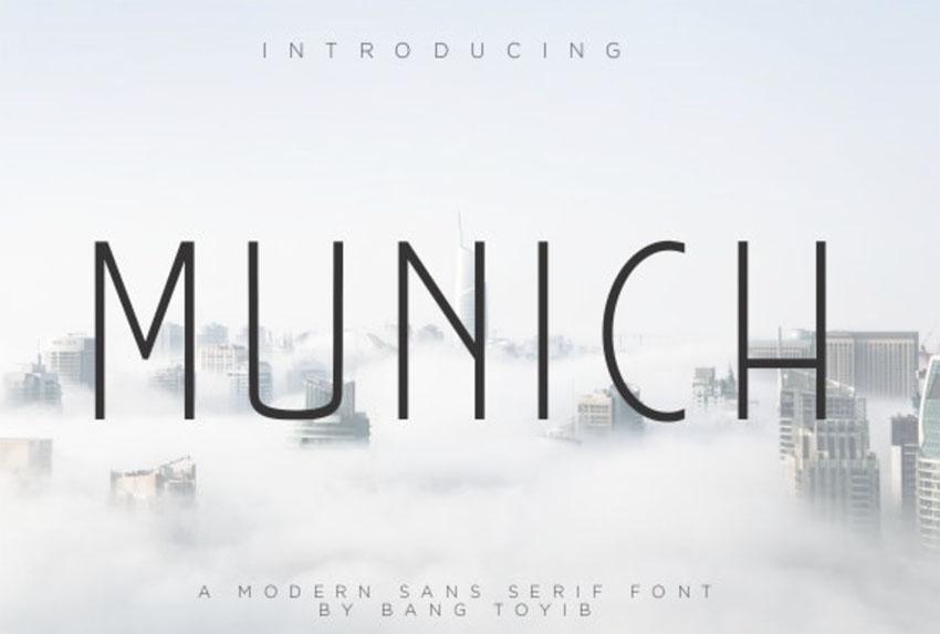 MUNICH - Minimalist Sans Serif Font