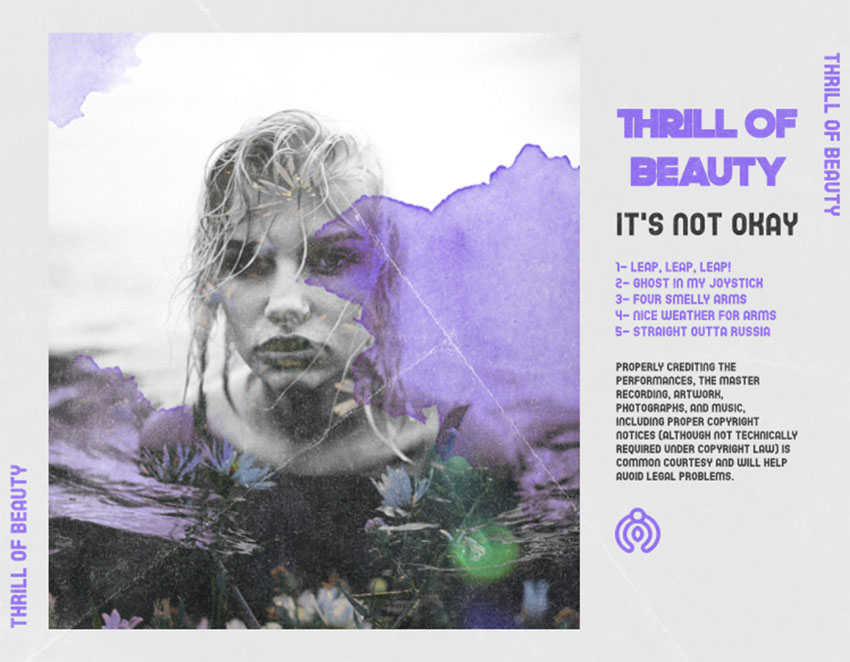 Back of CD Cover Information for a Pop Artist