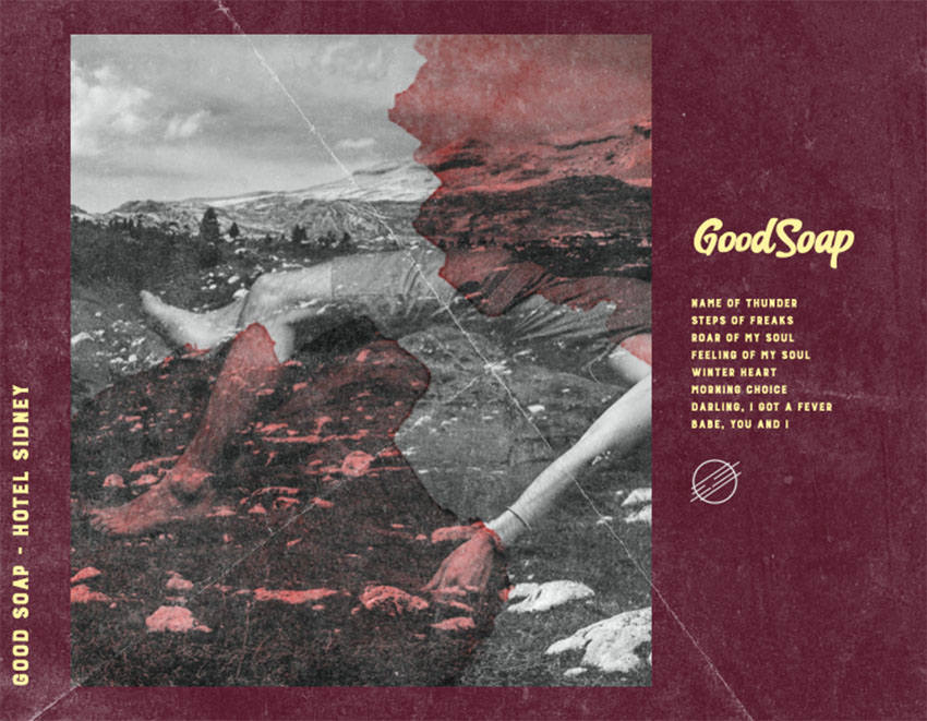 Rock Album Back Cover Creator with a Rugged-Texture Filter