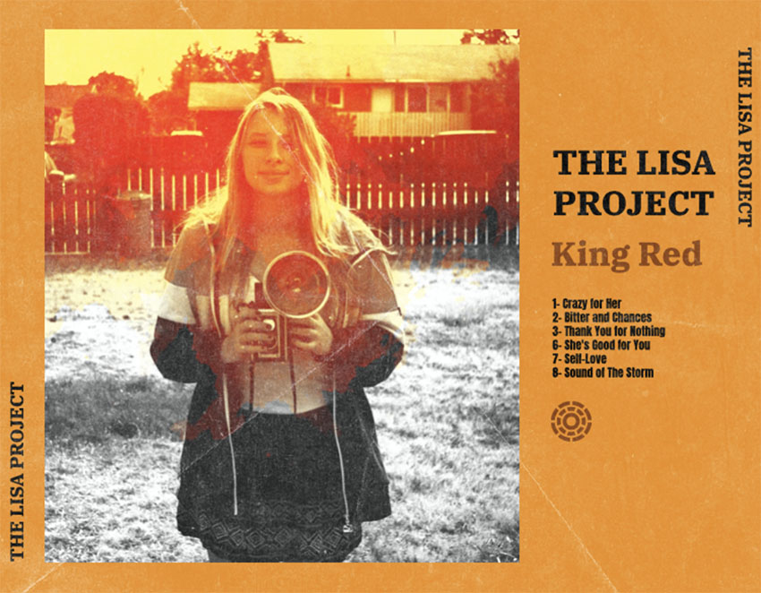 Cover CD Back for Folk Album with a Vintage-Looking Picture
