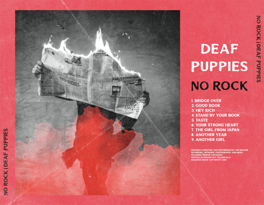 Back of CD Cover Information with a Monochromatic Picture