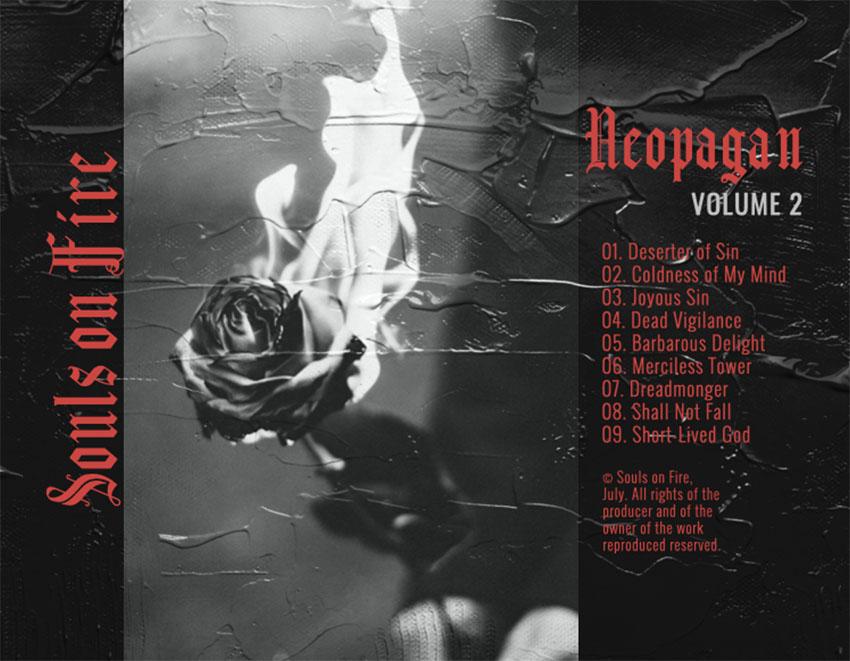 Goth-Metal Album Art Back Cover for a Punk Goth Album