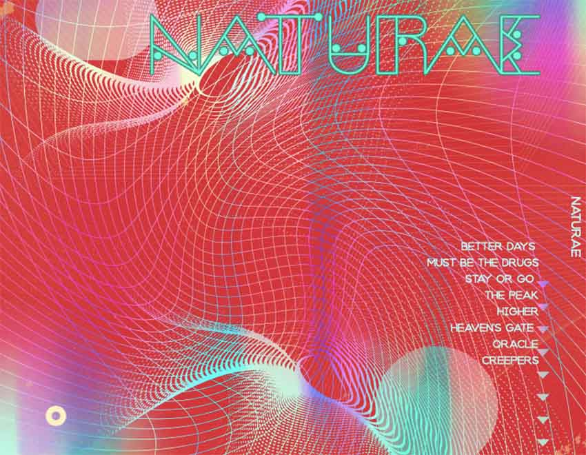 Rock Album Back Cover Maker with Abstract Graphic