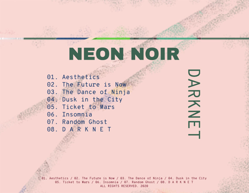 Collage-Styled Template for an CD Album Back Cover
