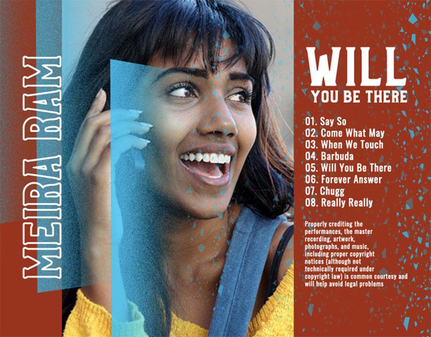 Finished album back cover design