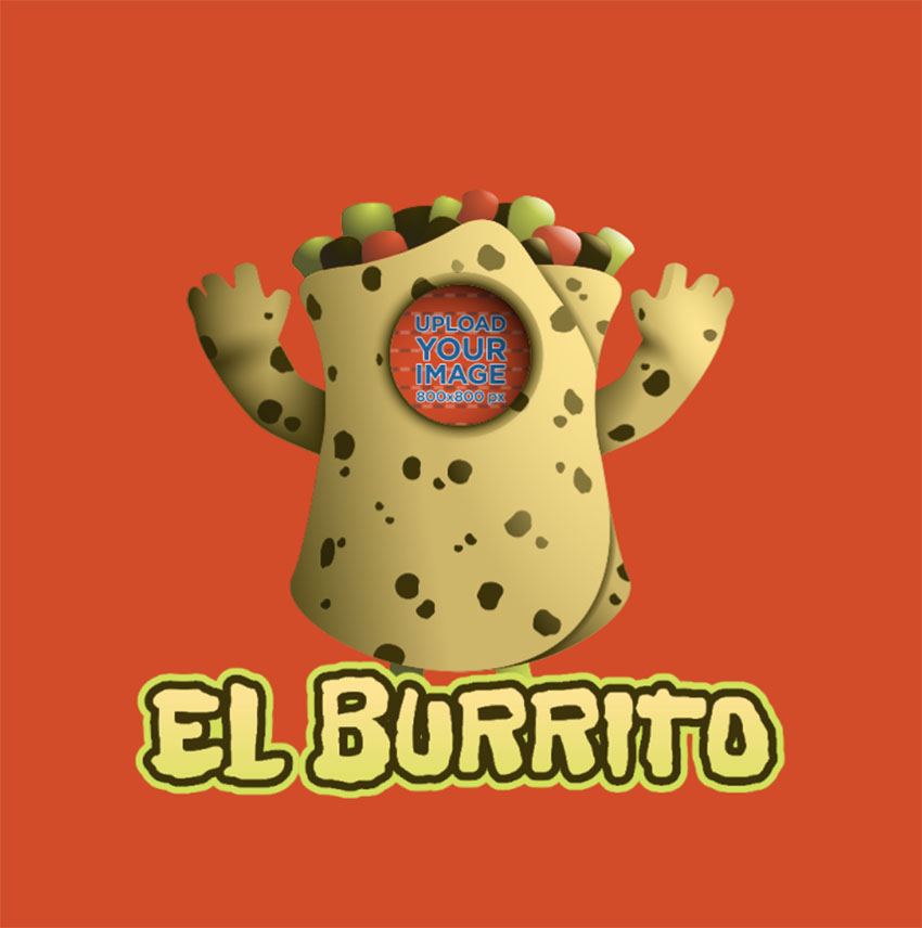 Twitch Emoji Template Featuring a Burrito Inspired by Fall Guys