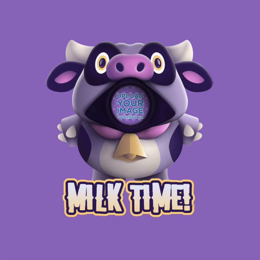 Twitch Emoji Featuring a Cow Inspired by Fall Guys
