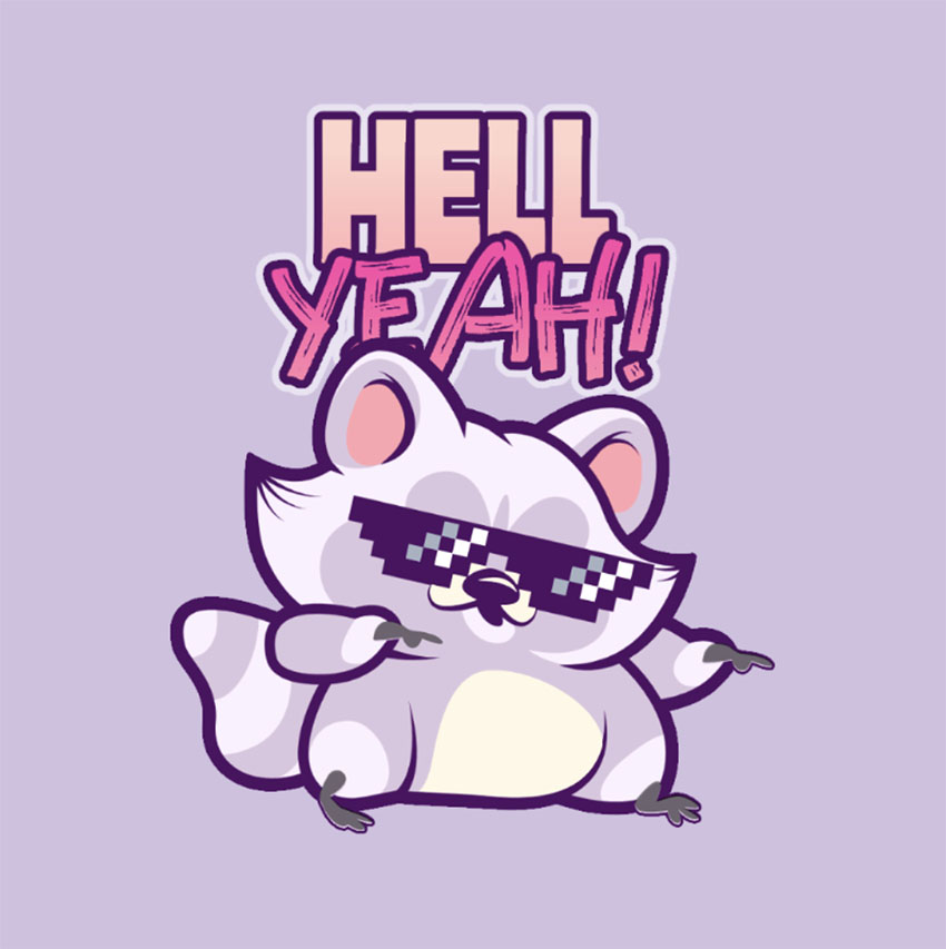 Twitch Chat Emoji Featuring a Raccoon with Swag