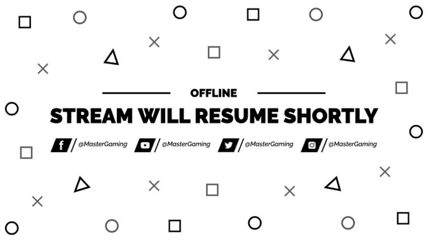 Twitch Offline Banner with Minimalist Graphics