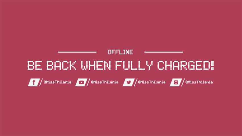 Twitch Offline Image with Retro Font
