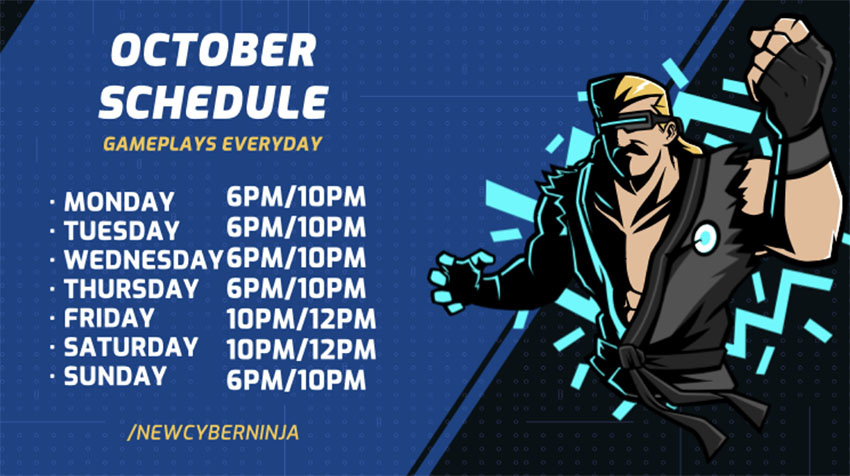 Twitch Offline Banner Maker with Streaming Schedule