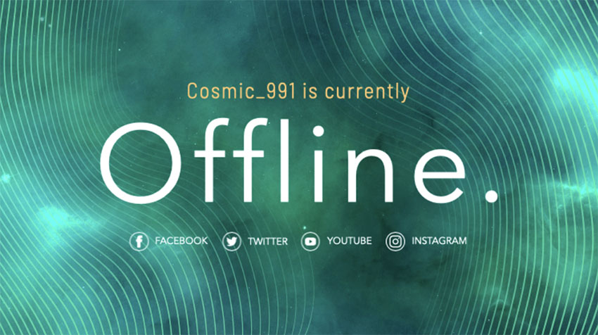 Simple Twitch Offline Screen