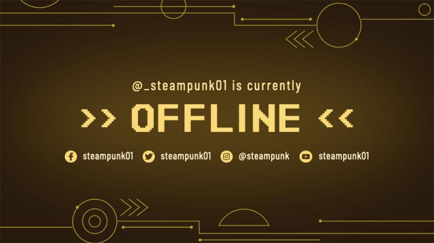 Steampunk Twitch Banner