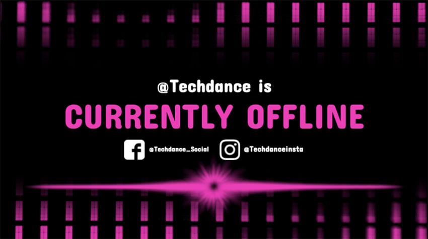 Techno-Dance Stream Offline Overlay