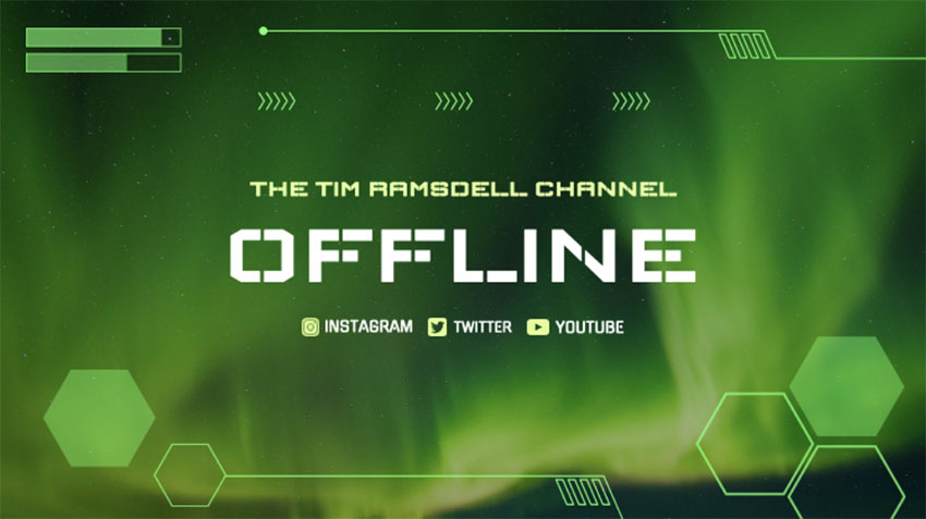 Stream Is Offline Twitch with Techno Vibe
