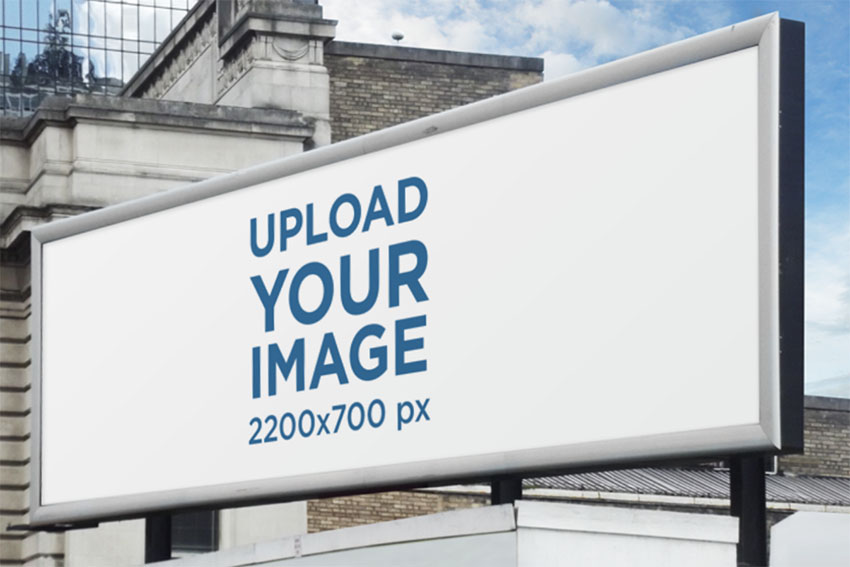 Billboard Advertising Mockup Placed on a Roof