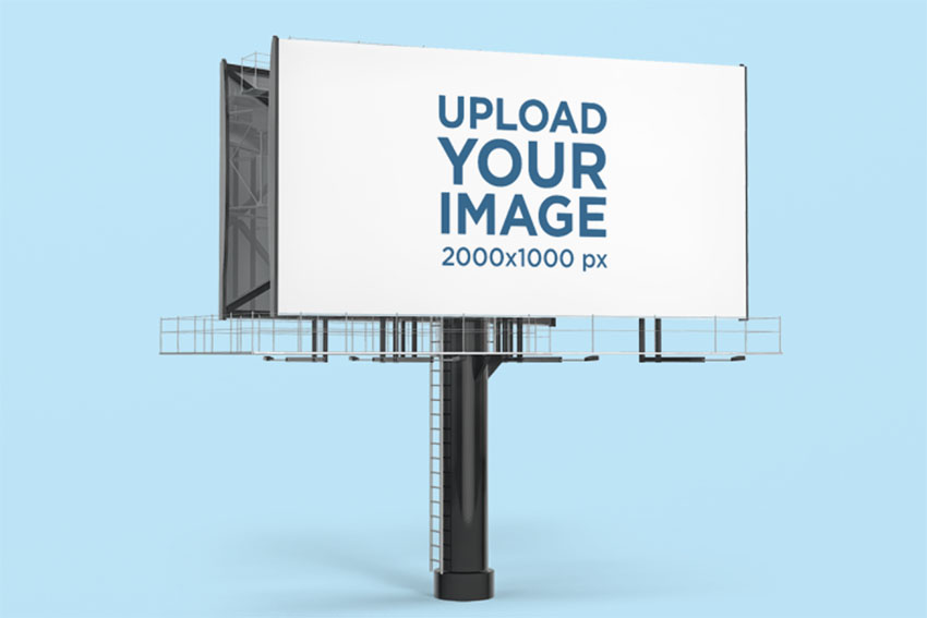 Advertising Billboard Mockup against Customizable Background