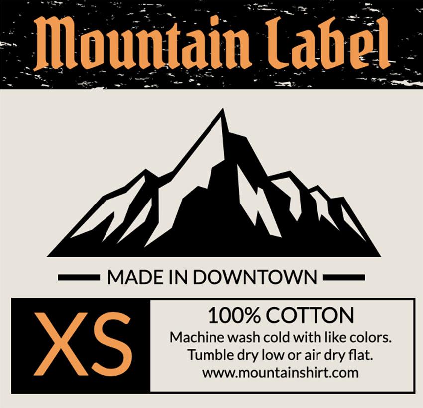 Label Design Maker for Outdoor Clothing Brands