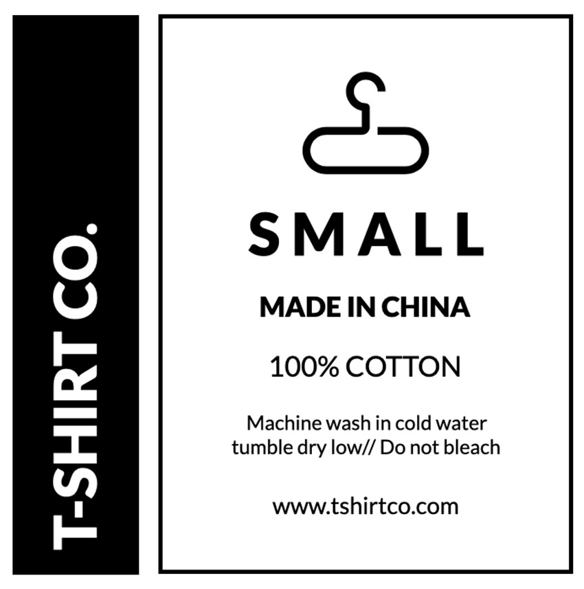 T-shirt Tag Template
