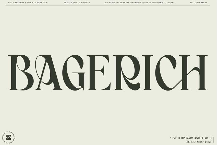 Bagerich   Art Nouveau Type Fonts