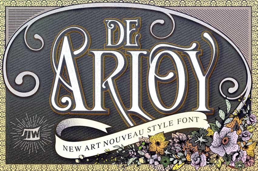 De Arloy Art Nouveau Font